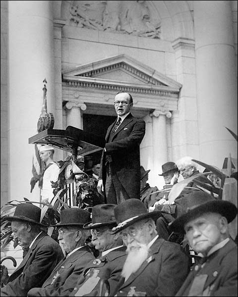 President Calvin Coolidge Giving Speech Photo Print for Sale