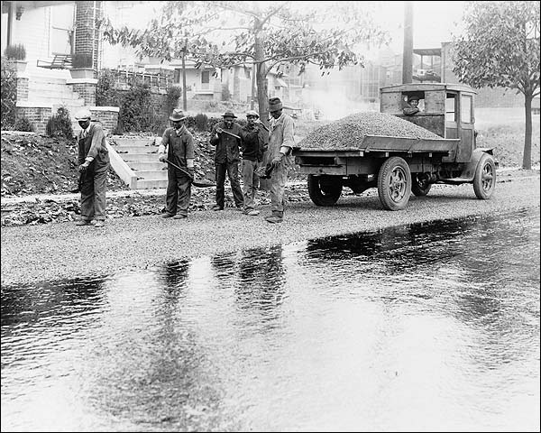 Black Men Paving Washington, D.C. Road Photo Print for Sale