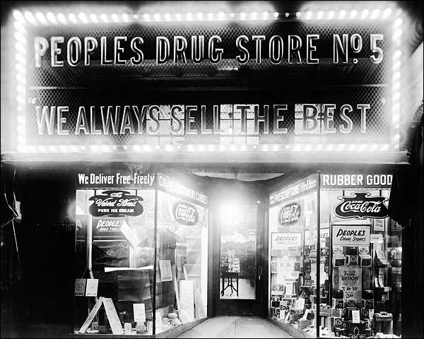 Peoples Drug Store Washington, D.C. 1922 Photo Print for Sale