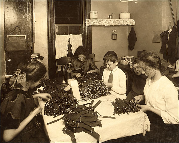 New York Jewish Family Workers Lewis Hine Photo Print for Sale