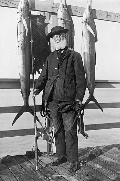 Crimmins w/ Rod and Reel & Saltwater Fish Photo Print for Sale