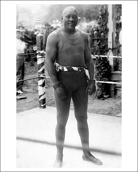Boxer Jack Johnson Boxing Ring Portrait Photo Print for Sale