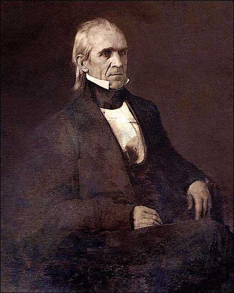 U.S. President James K. Polk Portrait Photo Print for Sale