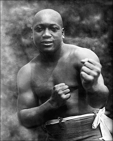 Boxer Jack Johnson Boxing Early Portrait Photo Print for Sale