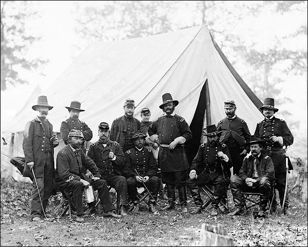 Burnside, Buford & Scott Hancock Civil War Photo Print for Sale