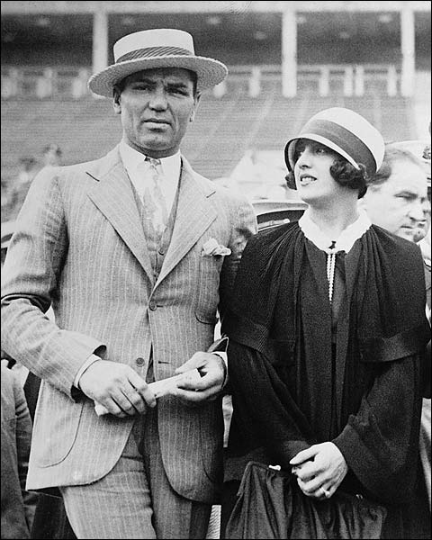 Boxer Jack Dempsey & Wife at Baseball Game Photo Print for Sale