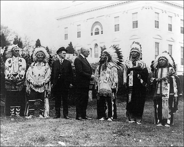 Warren G. Harding & Native American Indians Photo Print for Sale