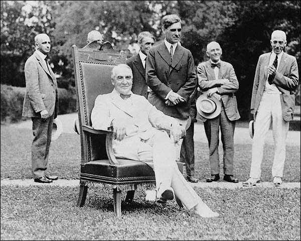 President Warren Harding, White House Lawn Photo Print for Sale