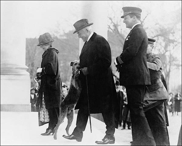 President Warren Harding & Dog 'Laddie Boy' Photo Print for Sale