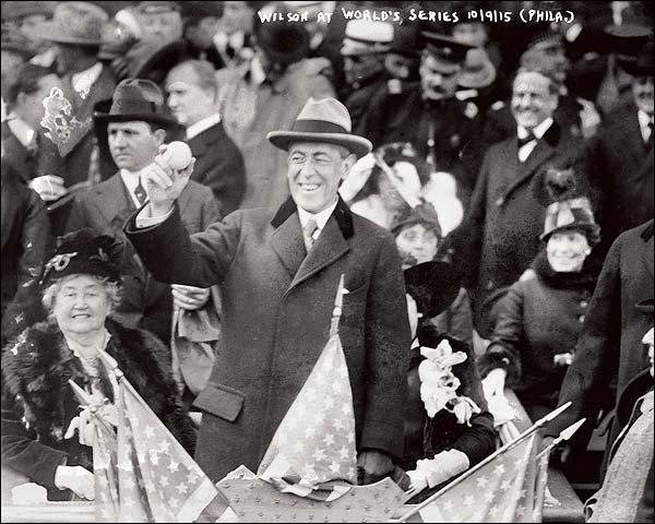 Woodrow Wilson Baseball World Series Photo Print for Sale