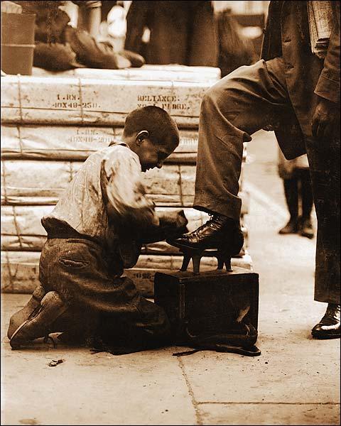 Lewis Hine Bowery Shoeshine Bootblack Photo Print for Sale