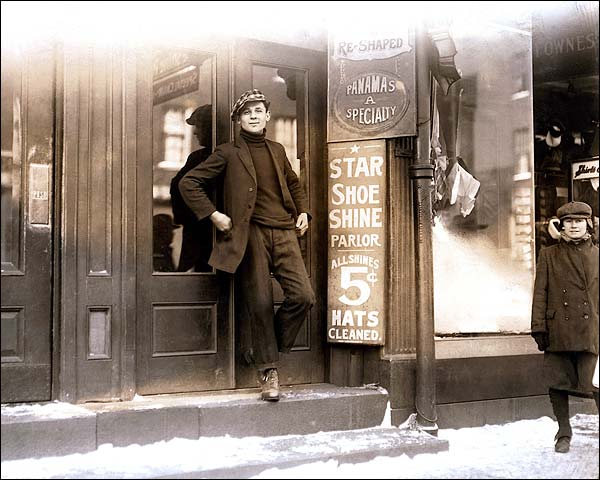 Lewis Hine Shoe Shine Bootblack Parlor Photo Print for Sale