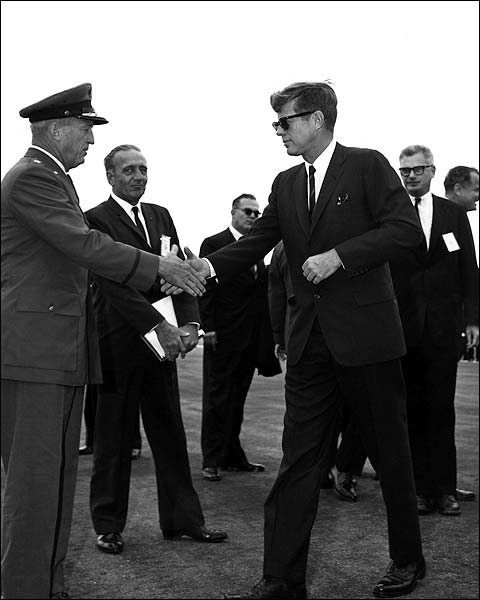 John F Kennedy and General L. Davis Photo Print for Sale