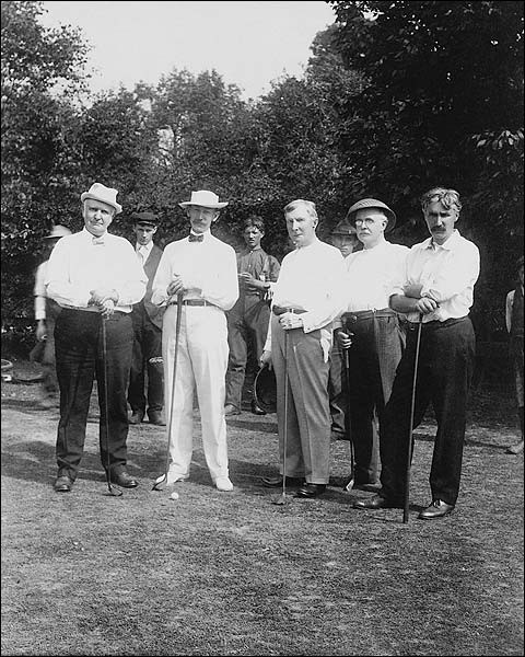 John D. Rockefeller & Friends Golfing Photo Print for Sale