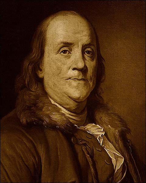 Benjamin Franklin Painting Wearing Fur Photo Print for Sale