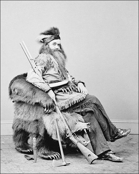 Hunter Seth Kinman w/ Lincoln's Bear Chair Photo Print for Sale