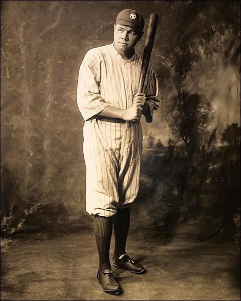 Babe Ruth Yankees Baseball Uniform Portrait Photo Print for Sale