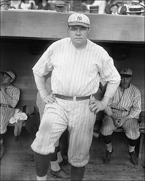 Babe Ruth New York Yankees Baseball Photo Print for Sale