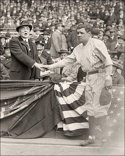 Babe Ruth w/ President Warren Harding Photo Print for Sale
