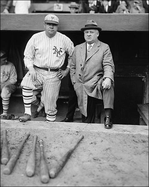 Babe Ruth w/ John McGraw Baseball Photo Print for Sale