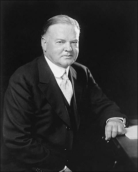 President Herbert Hoover Portrait Photo Print for Sale