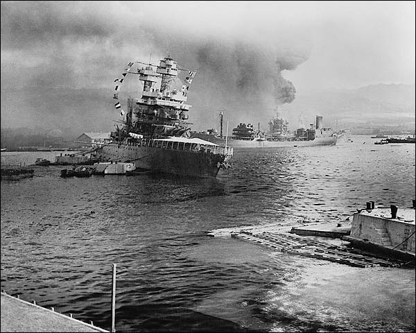Pearl Harbor Under Attack Photo Print for Sale