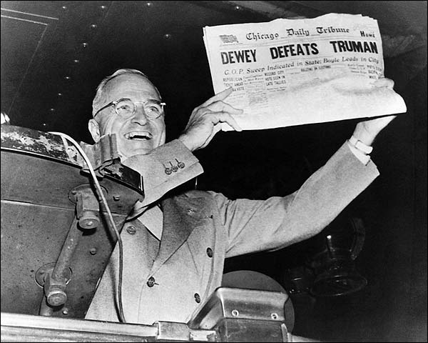 Dewey Defeats Truman Newspaper Photo Print for Sale