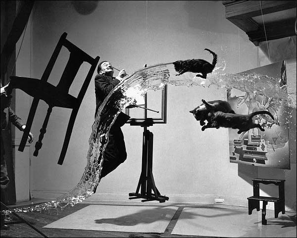 Surrealist Artist Salvador Dali In Motion Photo Print for Sale
