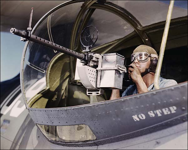 30-Calibre Machine Gun on PBY Catalina Photo Print for Sale