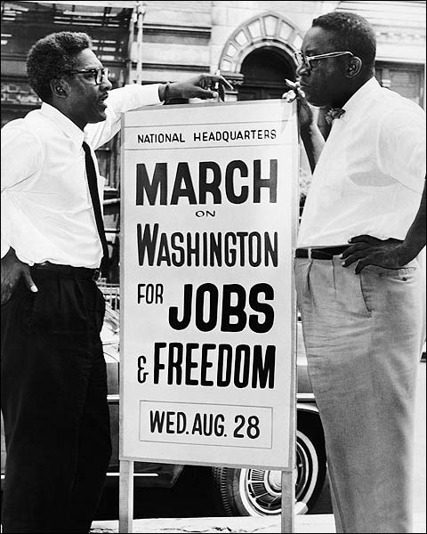 Civil Rights Era Sign for 1963 March on Washington Photo Print for Sale