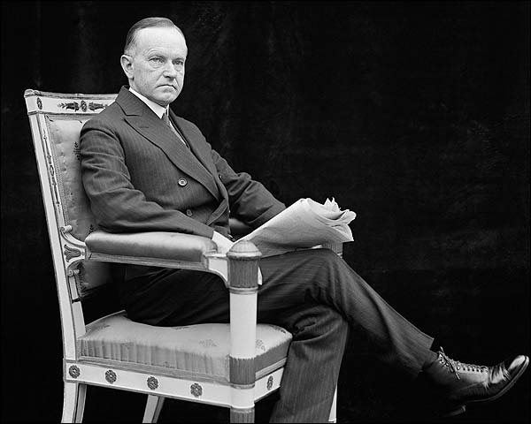 Sitting Portrait of President Calvin Coolidge 1924 Photo Print for Sale