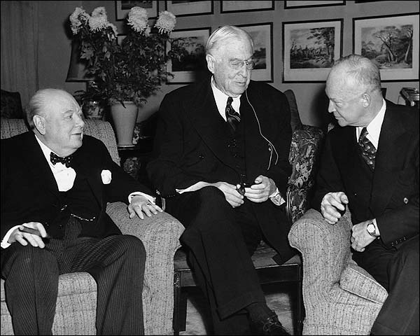 Churchill, Baruch, and Eisenhower 1953 Photo Print for Sale