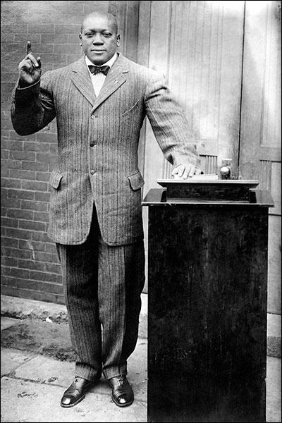 Portrait of Boxer and Preacher Jack Johnson 1915 Photo Print for Sale