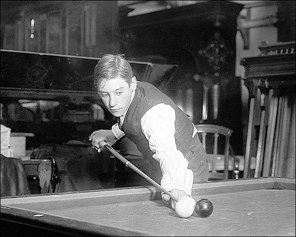 Billiards Champion Jacob Schaefer, Jr. 1923 Photo Print for Sale