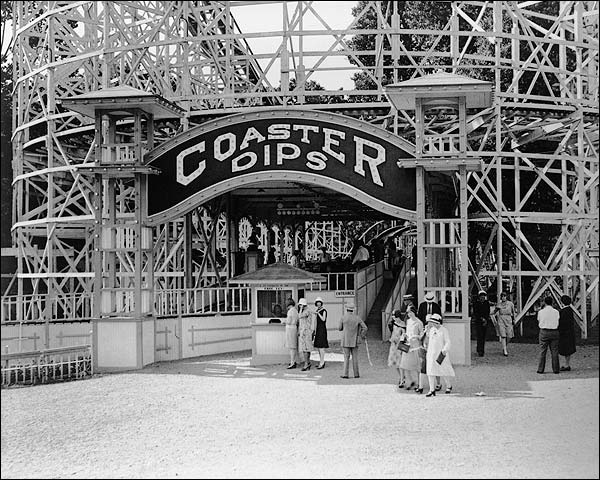 Coaster Dips Roller Coaster in Glen Echo Park Photo Print for Sale
