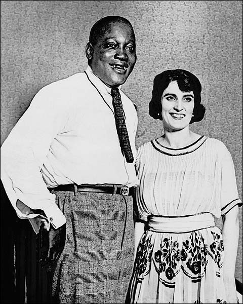Jack Johnson and Wife Lucille Cameron 1922 Photo Print for Sale
