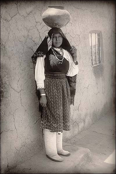 Isleta Pueblo Woman in New Mexico 1910 Photo Print for Sale