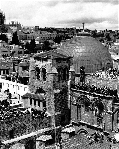Church of Holy Sepulchre in Jerusalem 1920 Photo Print for Sale