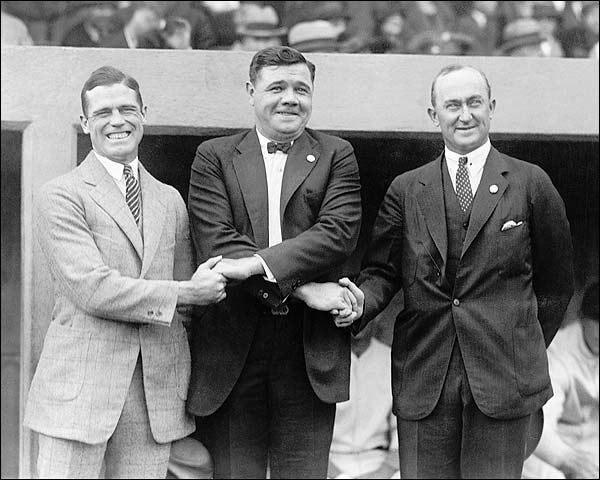 Babe Ruth & Ty Cobb Shaking Hands Photo Print for Sale