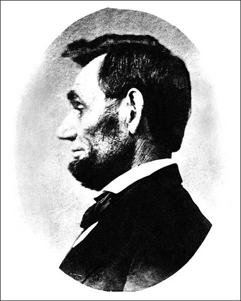 1863 Profile View of Abraham Lincoln  Photo Print for Sale