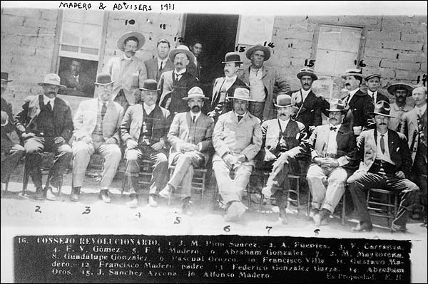 Francisco Madero with Advisors Mexican Revolution Photo Print for Sale