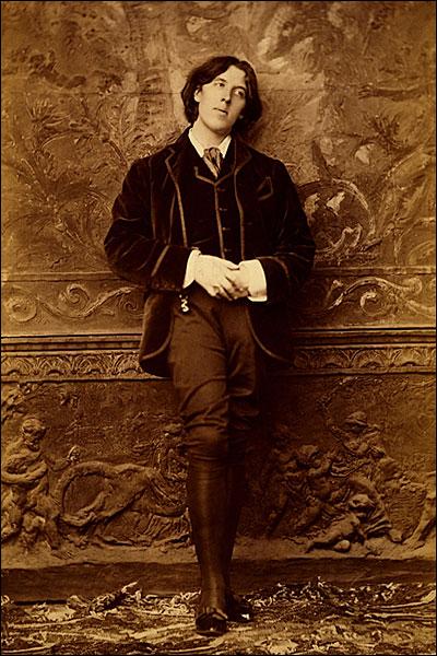 Oscar Wilde Full Length Standing Portrait Photo Print for Sale