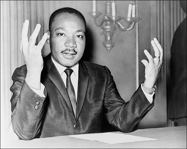 Dr. Martin Luther King, Jr. at Press Conference Photo Print for Sale