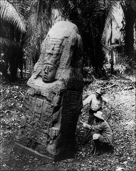 Ancient Mayan Monument in Quiriguá, Guatemala Photo Print for Sale