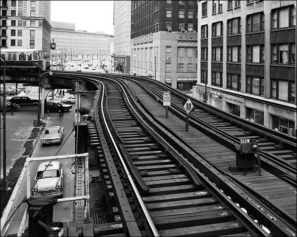 Union Elevated Railroad Tracks in Chicago Photo Print for Sale