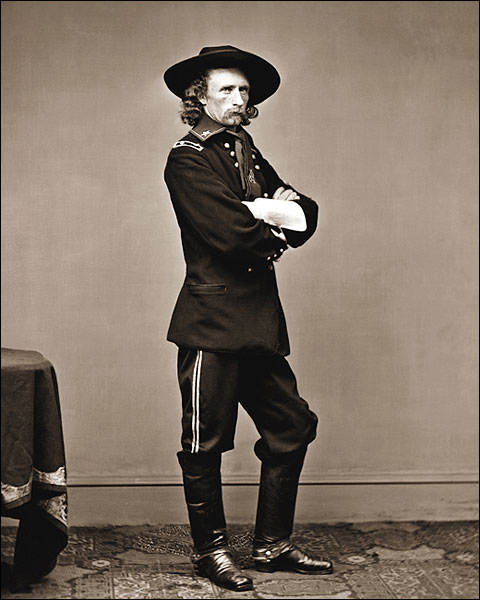 Civil War General George Custer Portrait Photo Print for Sale