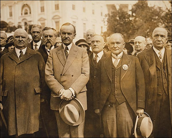 President Coolidge w/ Scottish Freemasonry Delegation Photo Print for Sale