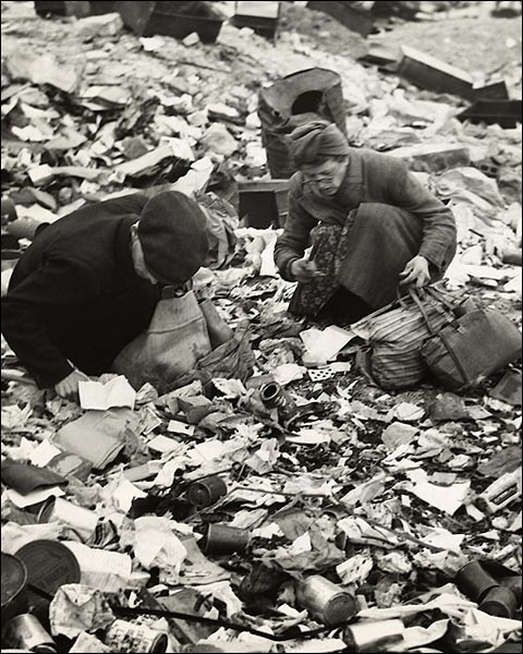 Berlin Residents Searching for Food Post WWII Photo Print for Sale