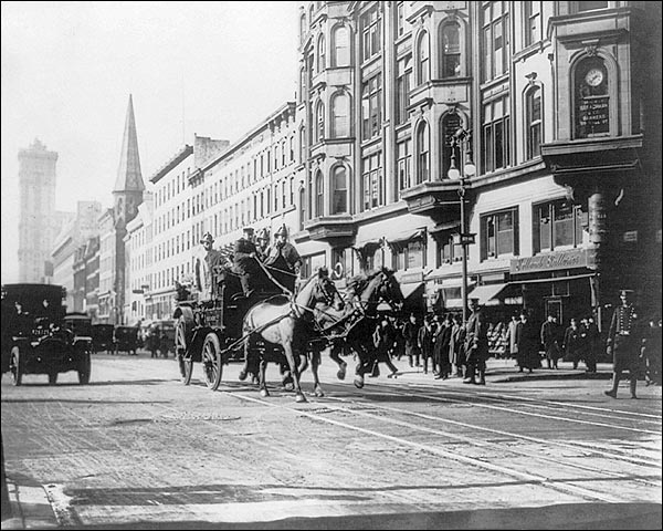 FDNY Firemen Horse Drawn Engine Photo Print for Sale