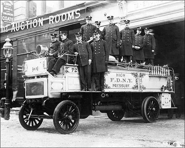 Classic FDNY Firefighters on Fire Engine Photo Print for Sale